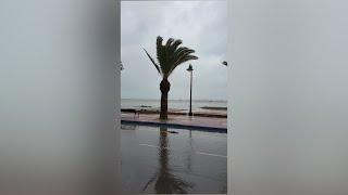 San Pedro de Pinatar es afectada por las lluvias torrenciales