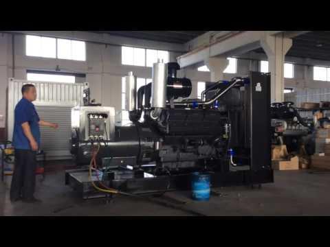 500kw SDEC diesel generator set testing before delivery