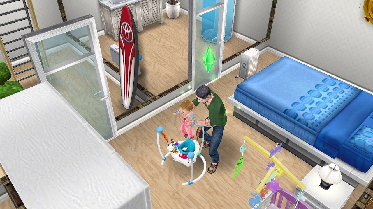 The sims freeplay nanny knows best quest youtube for Baby bathroom needs sims freeplay