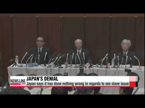 "Japan to promote that it has done ""nothing wrong"" in regards to sex sl"
