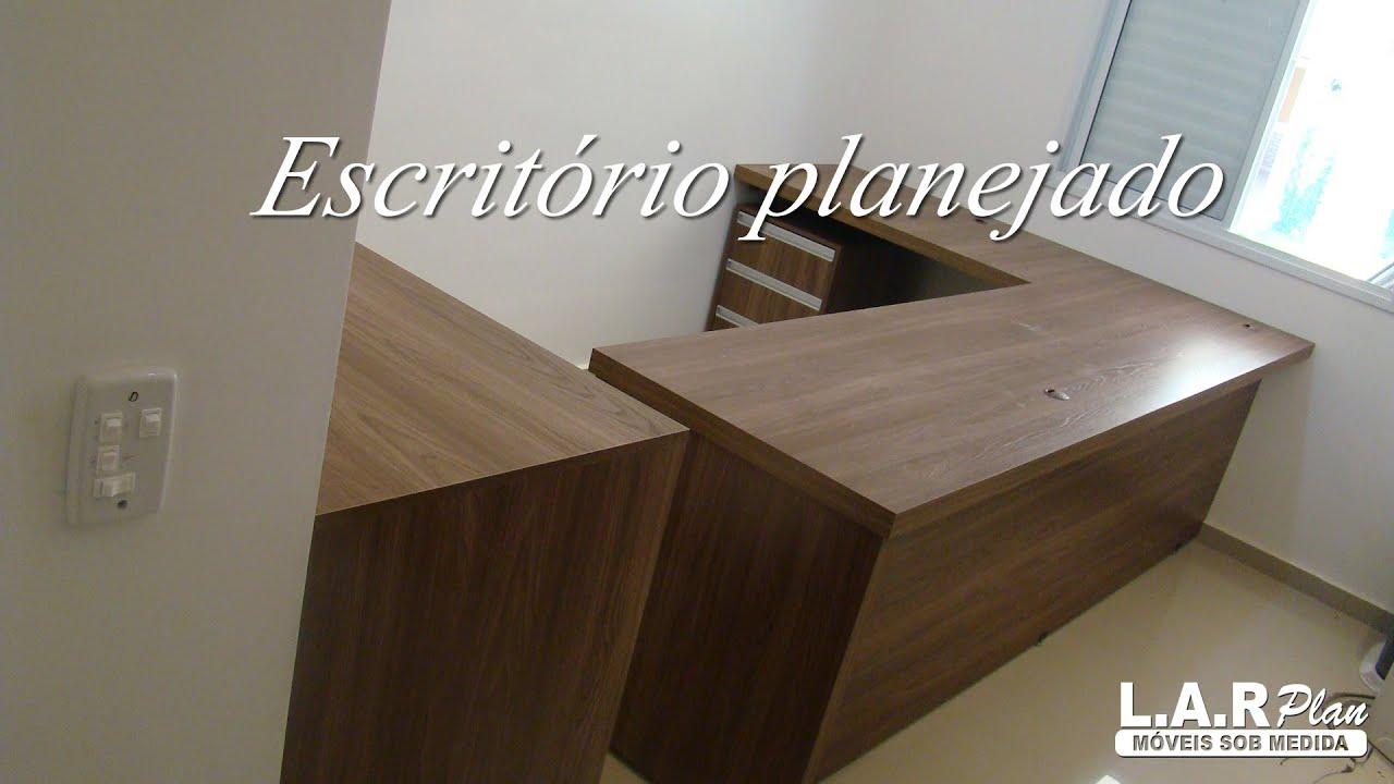 Escrit rio sob medida madeirado youtube for Medidas ergonomicas de un escritorio