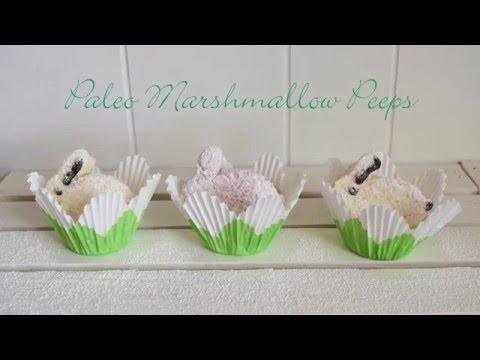 Marshmallow Peeps Paleo, Gluten Free, Corn syrup Free, dye free