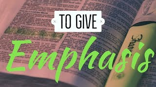 Kevin Foseid - To Give Emphasis (November 10th, 2019) - 2nd Service