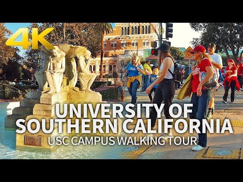 LOS ANGELES - University Of Southern California, USC Campus Walking, California, USA, Travel, 4K UHD
