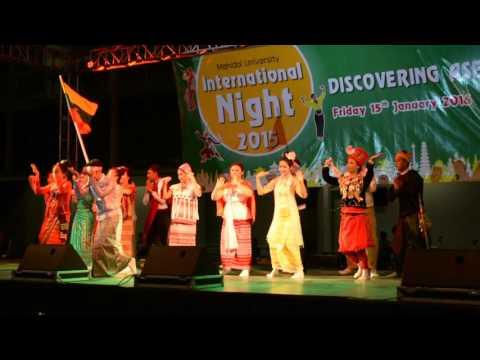 Myanmar Students Unity Dance at Mahidol University International Night 2015
