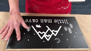 How to paint and stencil our DIY projects