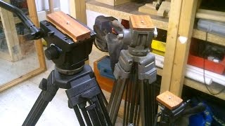 Making Wooden Tripod Adaptor Plate - Camera Mount - Vinten Pro 10 Broadcast Tripod