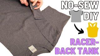 DIY No Sew T Shirt Racerback Tank T Shirt Ca