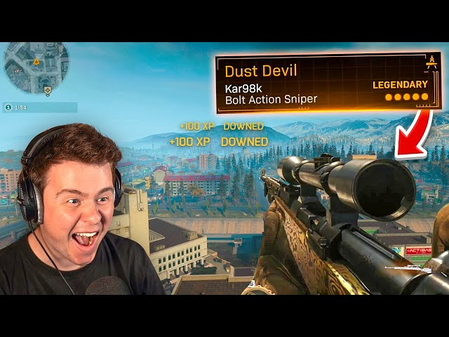 Sniping like a god in warzone #ad