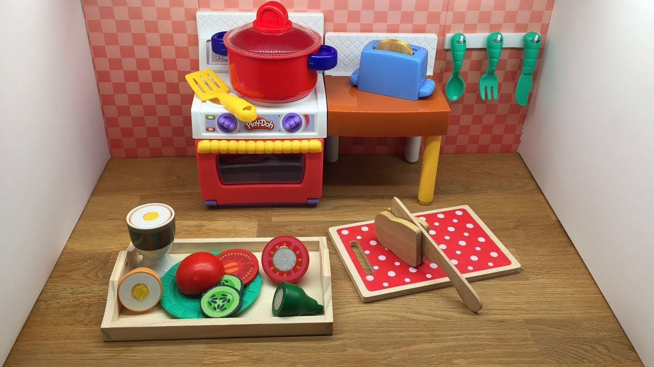 How To Make Breakfast With Play Doh Kitchen Set Velcro