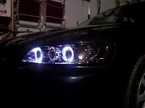 2002 honda accord halo headlights - YouTube