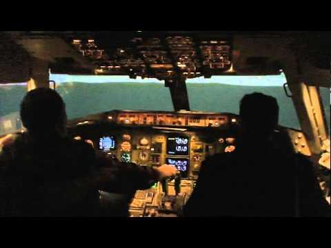 Boeing 767 simulator cockpit