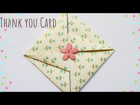 Easy Thank You Envelope Card | DIY Gift Envelope | Easy Thank you Card for Teachers #thankyoucard