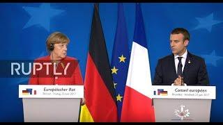 LIVE  Merkel briefs press after EU council meeting