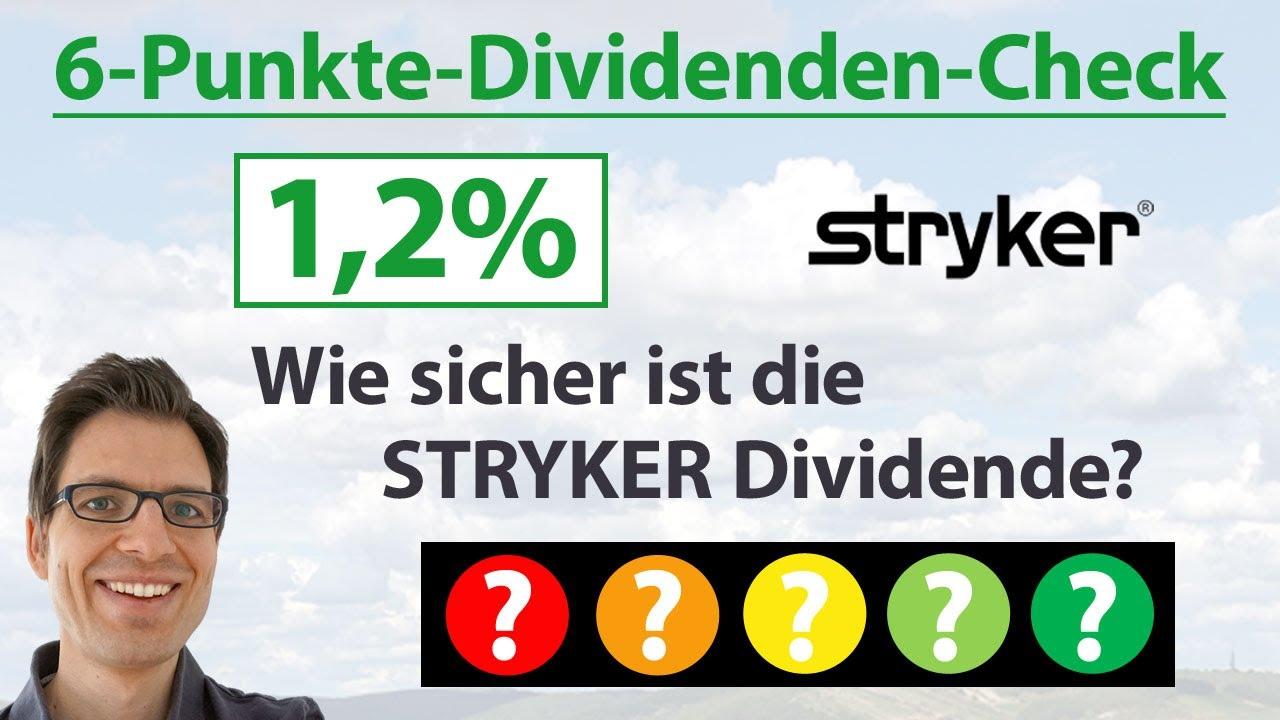 Stryker Aktie Dividende