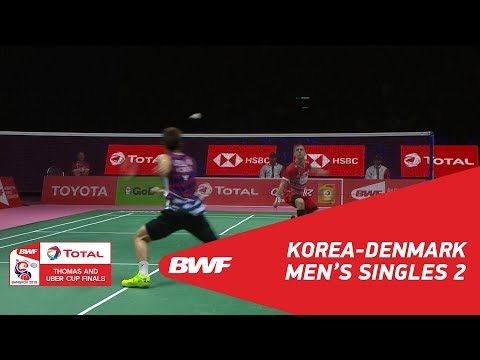 Thomas Cup | MS2 | LEE Dong Keun (KOR) vs Hans-Kristian Solberg VITTINGHUS (DEN) | BWF 2018