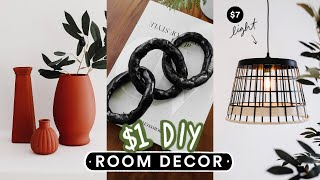 DIY DOLLAR STORE ROOM DECOR You Actually Want To Make! *Aesthetic + Easy*