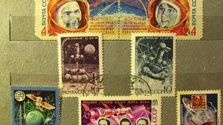 Небольшая коллекция почтовых марок - Космонавтика