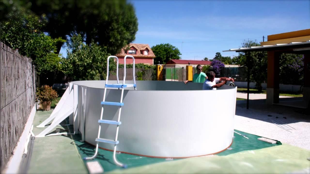 timelapse montaje de una piscina youtube