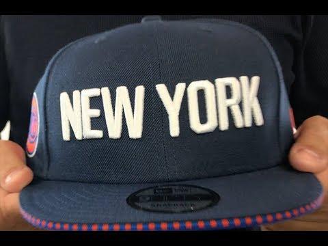 394a89c81f7d9 Knicks  18-19 CITY-SERIES SNAPBACK  Navy Hat by New Era - YouTube