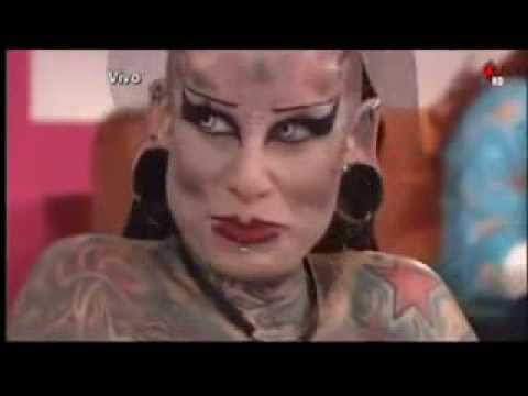 5f1950ff857e0 The World's Most Tattooed Woman - Devil Woman - YouTube