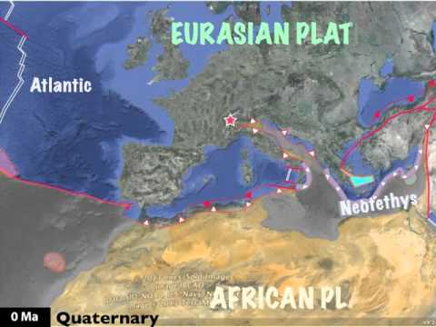 Geologic Map Of Europe.Plate Tectonics Of Europe For The Last 300 Millons Years Youtube