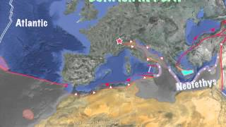 Plate tectonics of Europe for the last 300 millons years