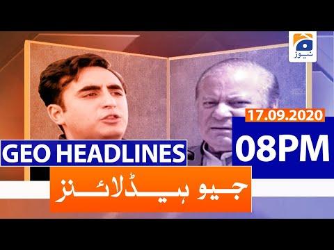 Geo Headlines 08 PM   18th September 2020