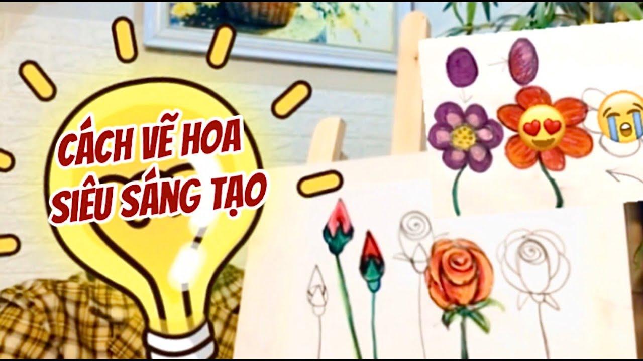 Hướng dẫn cách vẽ hoa hồng siêu đẹp, cách tô màu cho hoa hồng