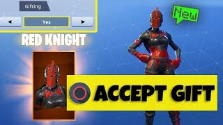 When to ACCEPT Fortnite FREE SKIN GIFTS... (Fortnite SKIN GIFTING System)