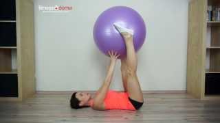 Упражнения для ягодиц на фитболе
