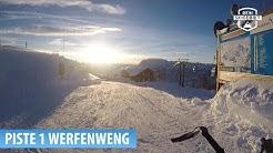 Talabfahrt Skigebiet Werfenweng: Piste 1 Panorama-Abfahrt