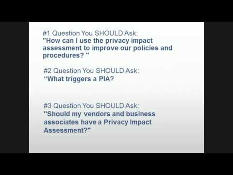 Preview - Protect Your Practice, Your Assets, and Your Patients with Privacy Impact Assessments