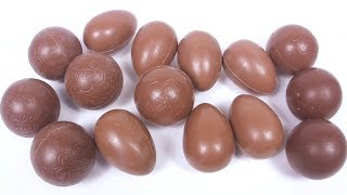 ШОКОЛАДНЫЕ ЯЙЦА БЕЗ ФОЛЬГИ Mystery Chocolate Surprise Eggs Kinder Surprise TOYS Unboxing