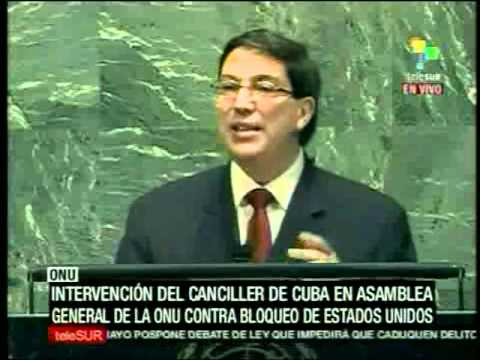 Discurso del canciller cubano Bruno Rodríguez Parrila, en la ONU contra el bloqueo