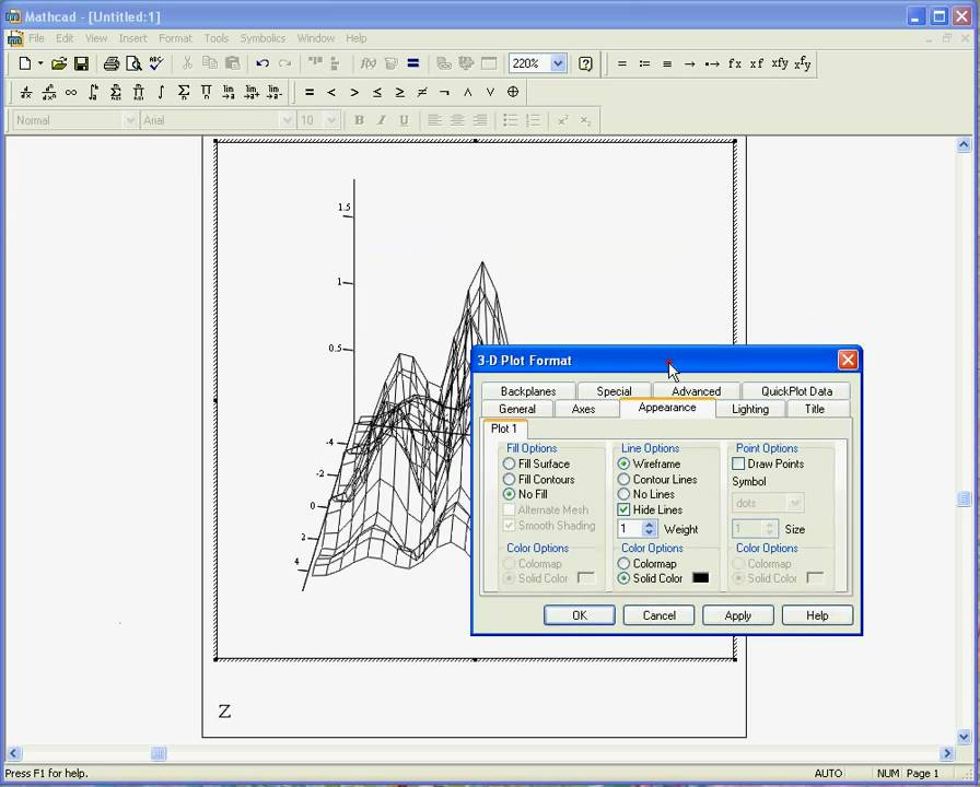 Mathcad 3d youtube for 3d plot online