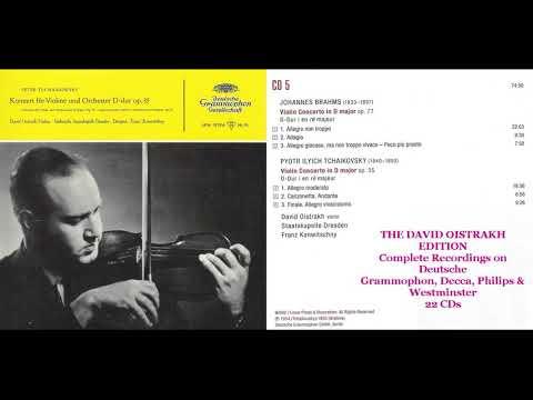 CD 5 David Oistrakh. Brahms Violin Concerto in D, Op  77; .Tchaikovsky  Violin Concerto in D