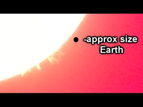 HUGE Solar Flares through specialist telescope!