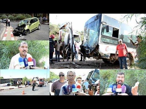 انقلاب مكناس/حافلة للنقل الحضري بمكناس في منعرج الموت ويسلان يخلف جرحى وحالة خطيرة(ويسلان نيوز)