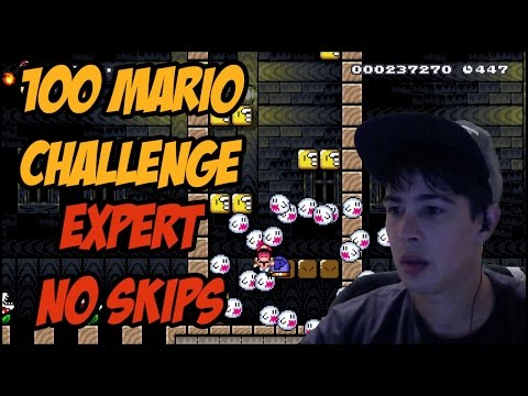 WRECKING THE 100 MARIO EXPERT CHALLENGE TROLLS EVERYWHERE - SUPER MARIO MAKER