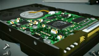 Hard Disk Drive - 3D Visualization