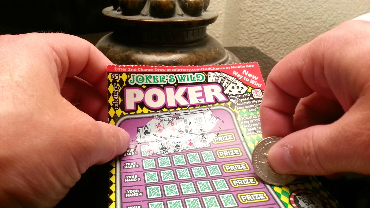 Jokers wild poker scratcher how to play on