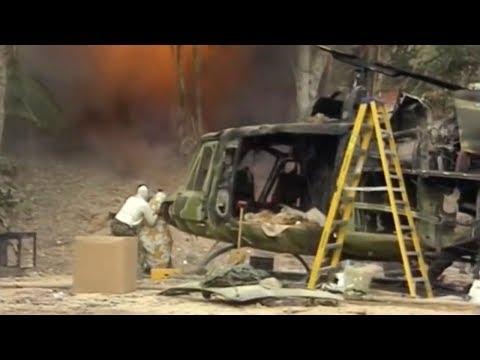 Съемки сцены боя в джунглях из фильма Хищник 1987 года