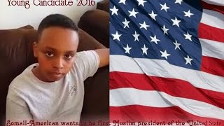 Somali American wants to be first Muslim American President