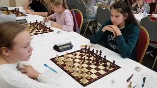 Russian chess girls play in Susdal. 2018-11-08.