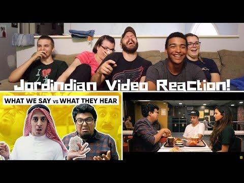 Play Jordindian REACTION! | What We Say Vs What They Hear | Misinterpretations