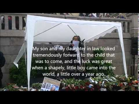 Demonstration against Norwegian CPS (Barnevernet) - appeal by Jelena Gulick  - subtitles