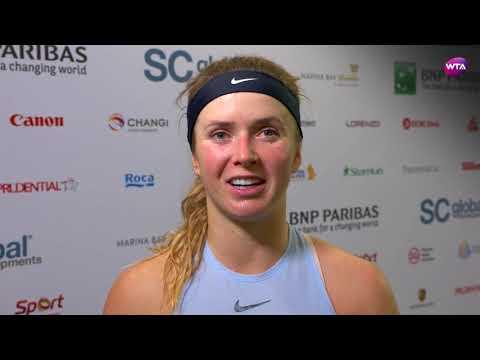 My Performance   Elina Svitolina defeats Simona Halep   2017 WTA Finals Singapore