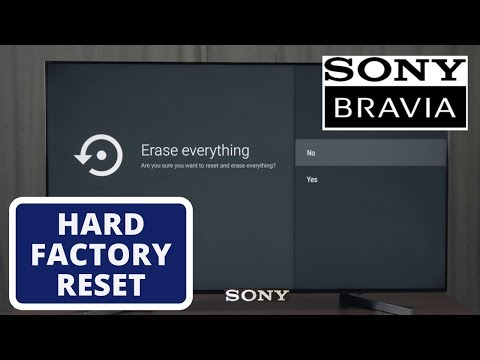 How To Hard Reset SONY Smart TV To Factory Settings    Hard Reset A SONY Smart TV