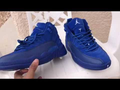 Jordan 12 deep royal blue DHgate  44 - YouTube 8efc44ae2